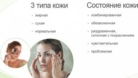 3 типа кожи